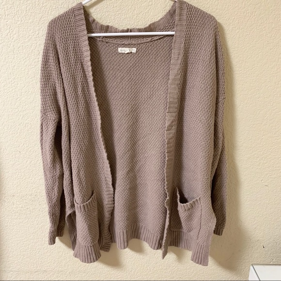 PacSun Sweaters - Grey/Lavender Oversized Cardigan